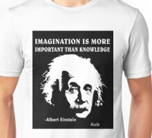 Rule Albert Einstein Imagination Is More Important Than Knowledge Unisex T-Shirt