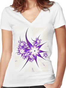 Purple Passion Women's Fitted V-Neck T-Shirt
