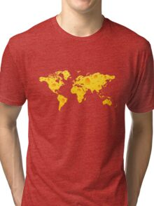 Cheese World Map Prins, T-Shirts,  iPone Case iPad Case / Samsung Galaxy Case / Mug  Tri-blend T-Shirt