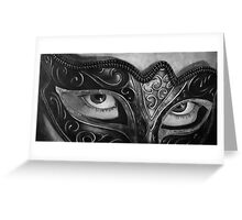 Come Hither - Woman in a Mardi Gras Mask Greeting Card