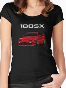 180sx type x with te37 wheels Women's Fitted Scoop T-Shirt