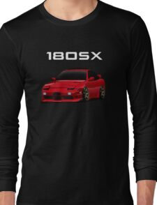 180sx type x with te37 wheels Long Sleeve T-Shirt