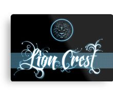 Lion Crest® - Blue glow Metal Print