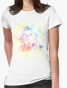 Fashion watercolor girl Womens Fitted T-Shirt