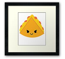 Quesadilla Emoji Naughty and Cheeky Framed Print