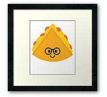 Quesadilla Emoji Nerd Noob Glasses Framed Print