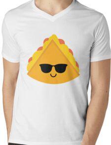 Quesadilla Emoji Cool Sunglasses Mens V-Neck T-Shirt
