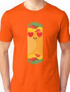 Burrito Emoji Heart and Love Eye Unisex T-Shirt