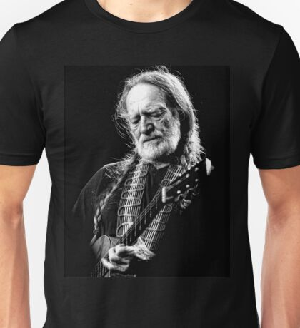 Willie Nelson black white Unisex T-Shirt