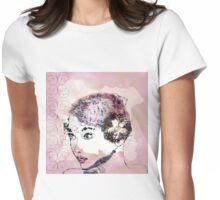 Glamour girl portrait Womens Fitted T-Shirt