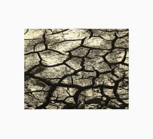 Parched Land - Clay Cracks and Nature Pattern Unisex T-Shirt