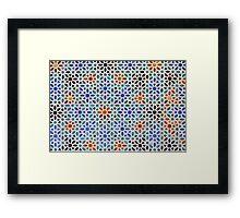 Colorful mosaic tiles Framed Print