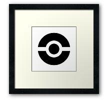 Pokeball Icon Framed Print