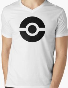Pokeball Icon Mens V-Neck T-Shirt