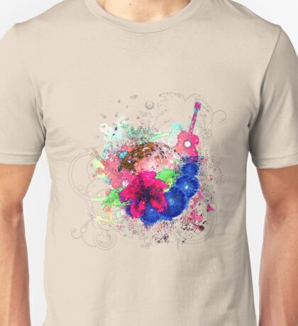 Grunge tropical patry poster Unisex T-Shirt