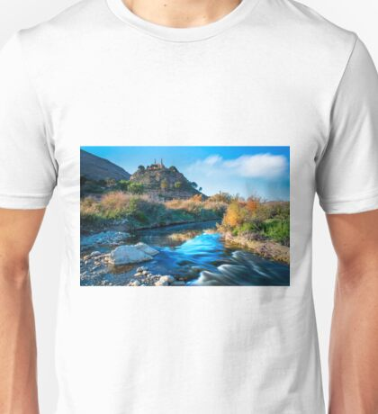 Bend in the Vinalopó and the Monastery Unisex T-Shirt