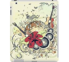 Grunge tropical patry poster 2 iPad Case/Skin