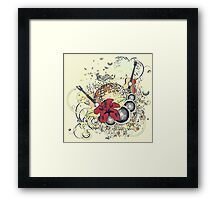 Grunge tropical patry poster 2 Framed Print