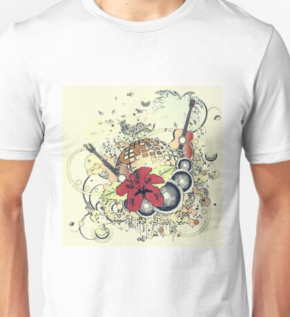Grunge tropical patry poster 2 Unisex T-Shirt