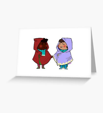 Scarves and Shawls Greeting Card