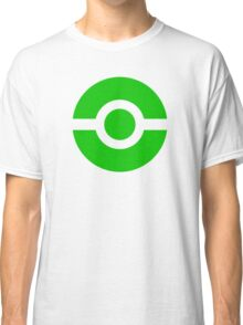 Pokeball Icon Green Classic T-Shirt