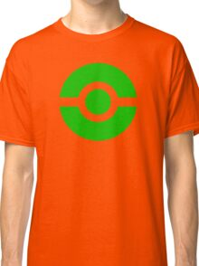 Pokeball Icon Green Classic T-Shirt