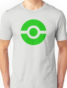 Pokeball Icon Green Unisex T-Shirt