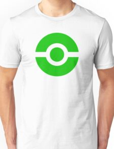 Pokeball Icon Green Unisex T-Shirt
