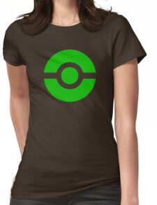 Pokeball Icon Green Womens Fitted T-Shirt