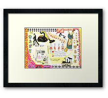 'My wife is allergic to housework, oh ho ho'  Framed Print