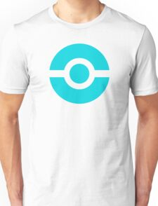 Pokeball Icon Teal Unisex T-Shirt