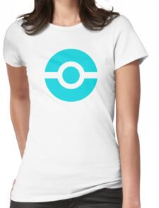Pokeball Icon Teal Womens Fitted T-Shirt