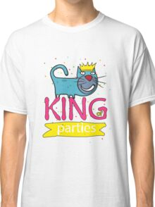 Cat - king of parties  Classic T-Shirt