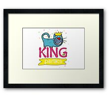 Cat - king of parties  Framed Print