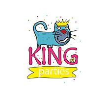Cat - king of parties  Photographic Print