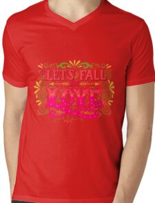 Let's fall in colorful vivid Love Mens V-Neck T-Shirt