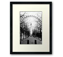 London Eye, Black and White Framed Print