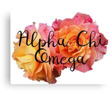 Alpha Chi Omega Rose A Chi O Canvas Print