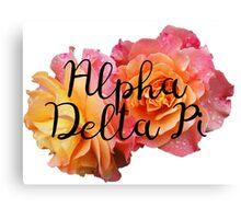 Alpha Delta Pi Rose ADPi Canvas Print