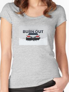 ae86 coupe burnout Women's Fitted Scoop T-Shirt
