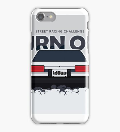 ae86 coupe burnout iPhone Case/Skin