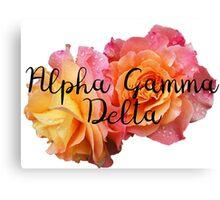 Alpha Gamma Delta AGD rose Canvas Print