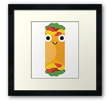 Burrito Emoji Shock and Surprise Framed Print