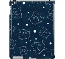 Seamless pattern with outlines of monsters iPad Case/Skin
