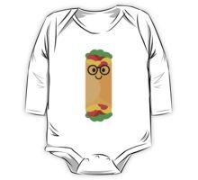 Burrito Emoji Nerd Noob Glasses One Piece - Long Sleeve