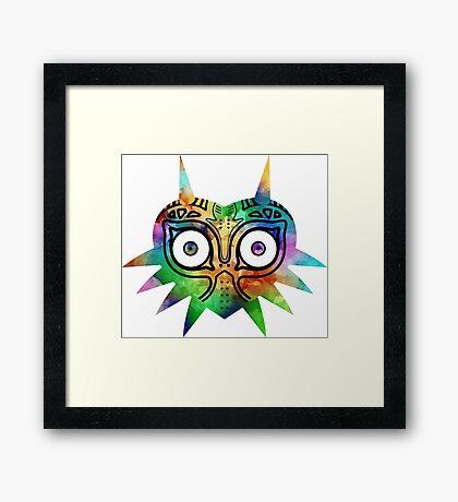 Majora's Mask Color Alt Framed Print