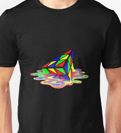 Melting Pyraminx cude Unisex T-Shirt