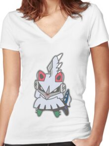 Kawaii Silvally!! Women's Fitted V-Neck T-Shirt