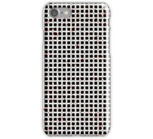 Black White Red Abstract Pattern iPhone Case/Skin