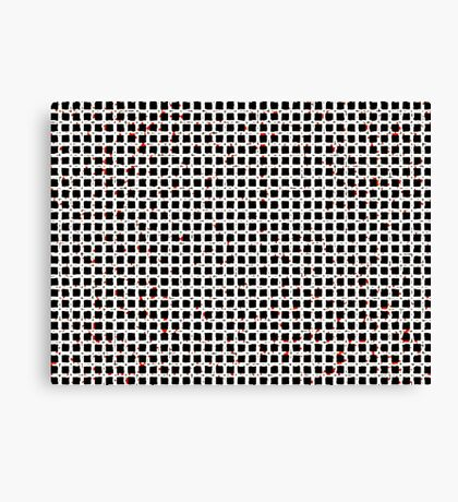 Black White Red Abstract Pattern Canvas Print